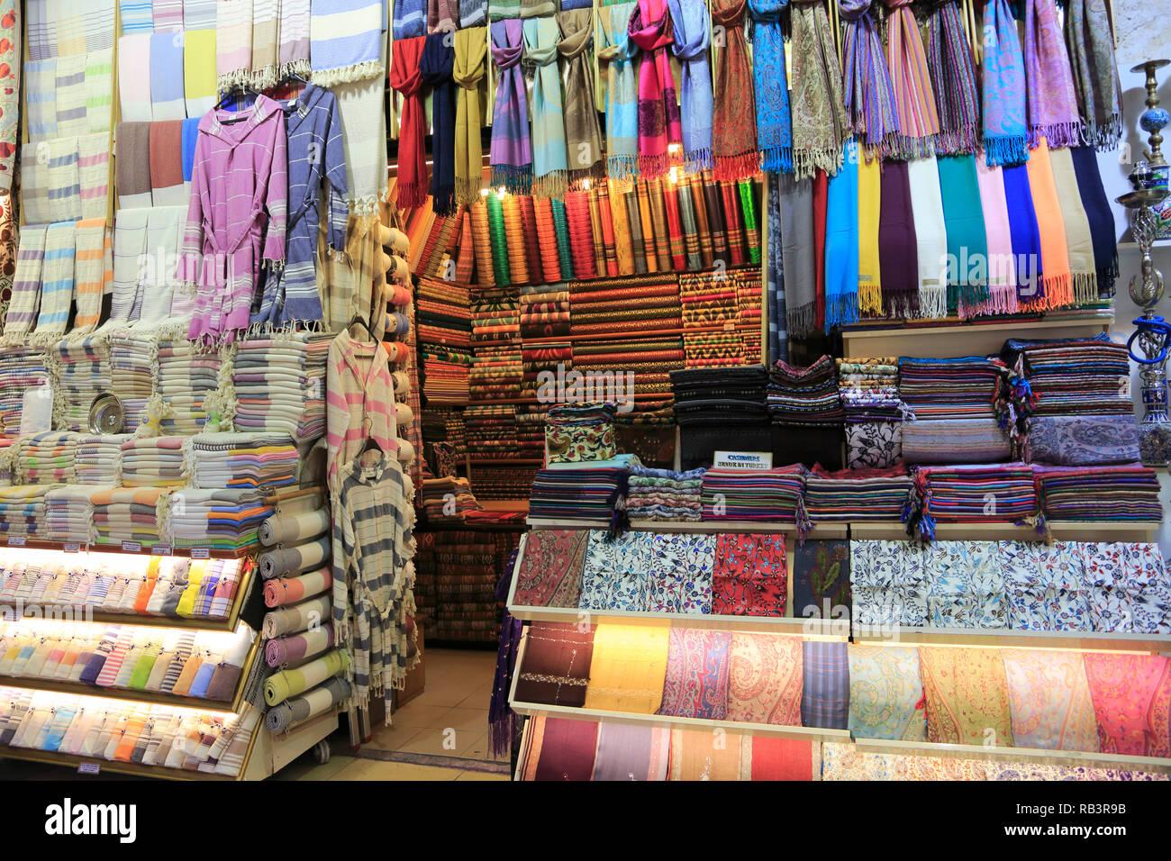 c8e7d1c5268d Textiles, Grand Bazar, Kapali Carsi, Marché, Vieille Ville, Istanbul,  Turquie