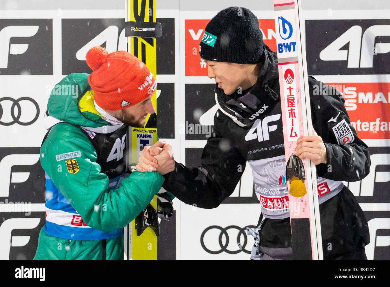 Bischofshofen, Autriche  06 Jan, 2019  Ski nordique/saut à