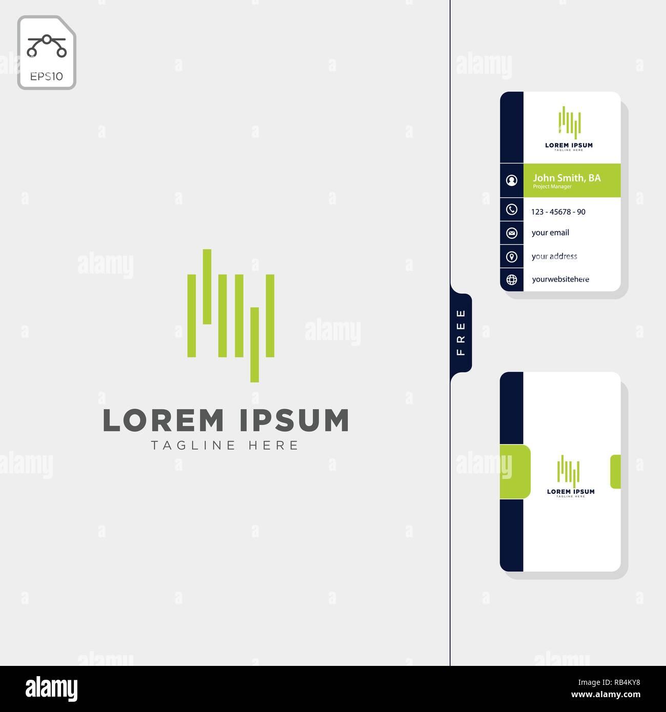 MV Minime Vague Initiale Modele Logo Vector Illustration Obtenez Gratuitement Un De Conception Carte
