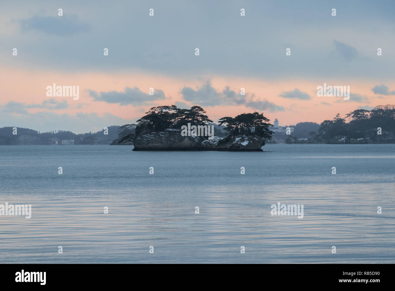 Matsushima Bay dans la région de Tohoku, Japon Photo Stock