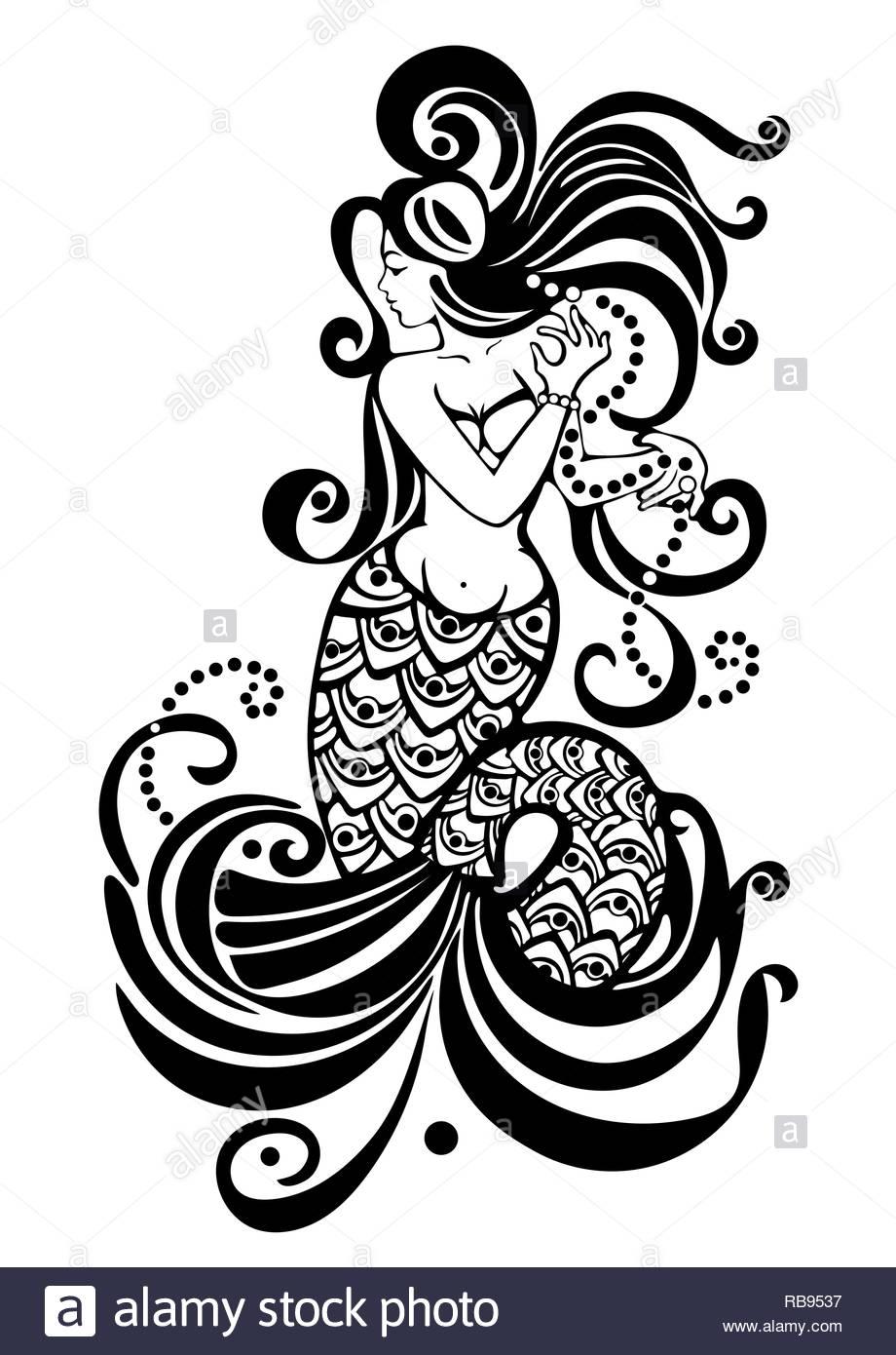Dessin Sirene Imprimer