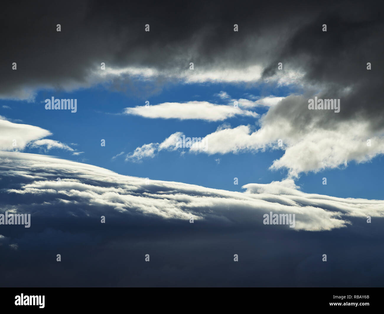 L'Islande, Cloudscape Photo Stock