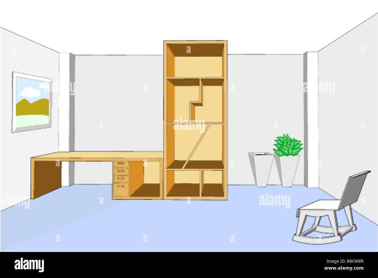 Chambre A Coucher Avec Des Meubles Design D Interieur Lit Armoire