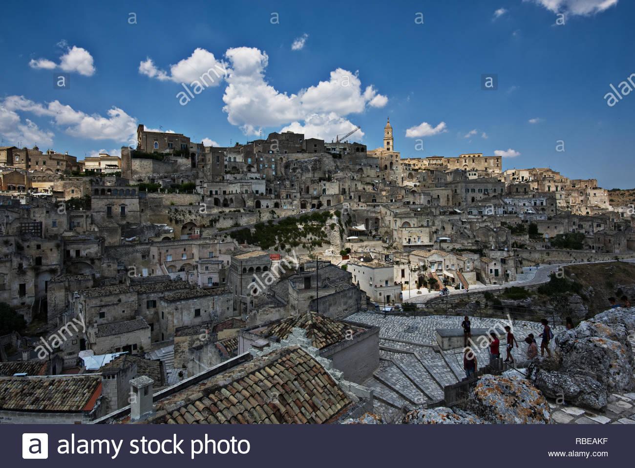 Un court voyage à Matera Photo Stock