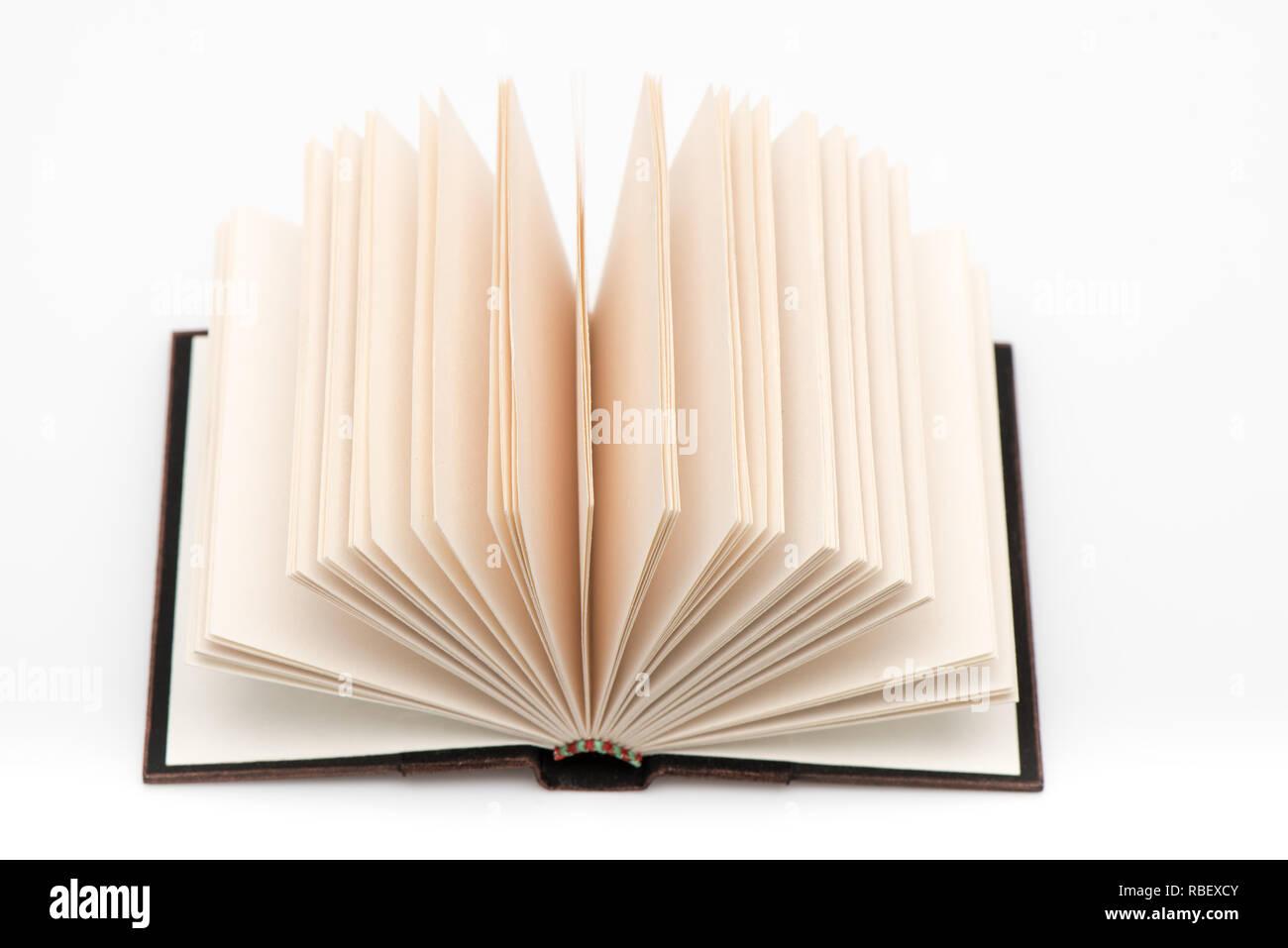 Livre Blanc Vide Ouvert Libre De Plusieurs Pages D Un Livre