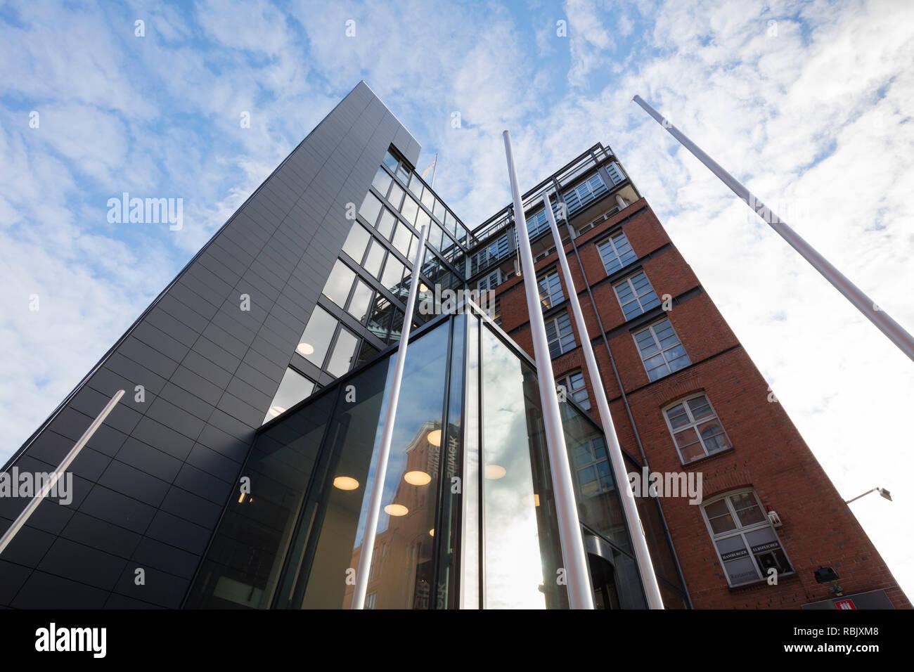 Immeuble de bureaux, Elbspeicher, Stilwerk, Altona, Hambourg, Allemagne, Europe Banque D'Images