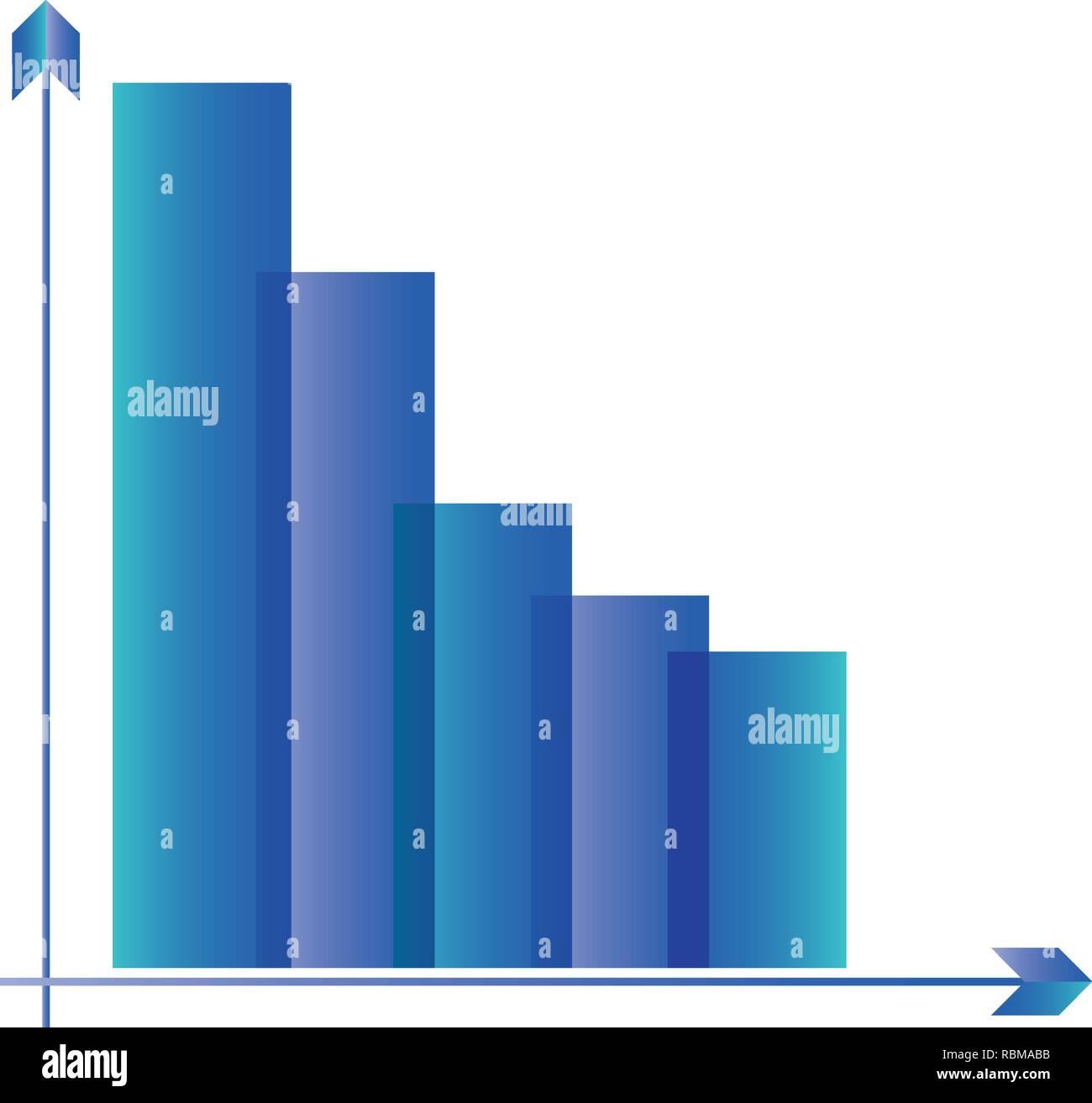 Statistiques graphiques vecteur icône isolé illustration design Photo Stock