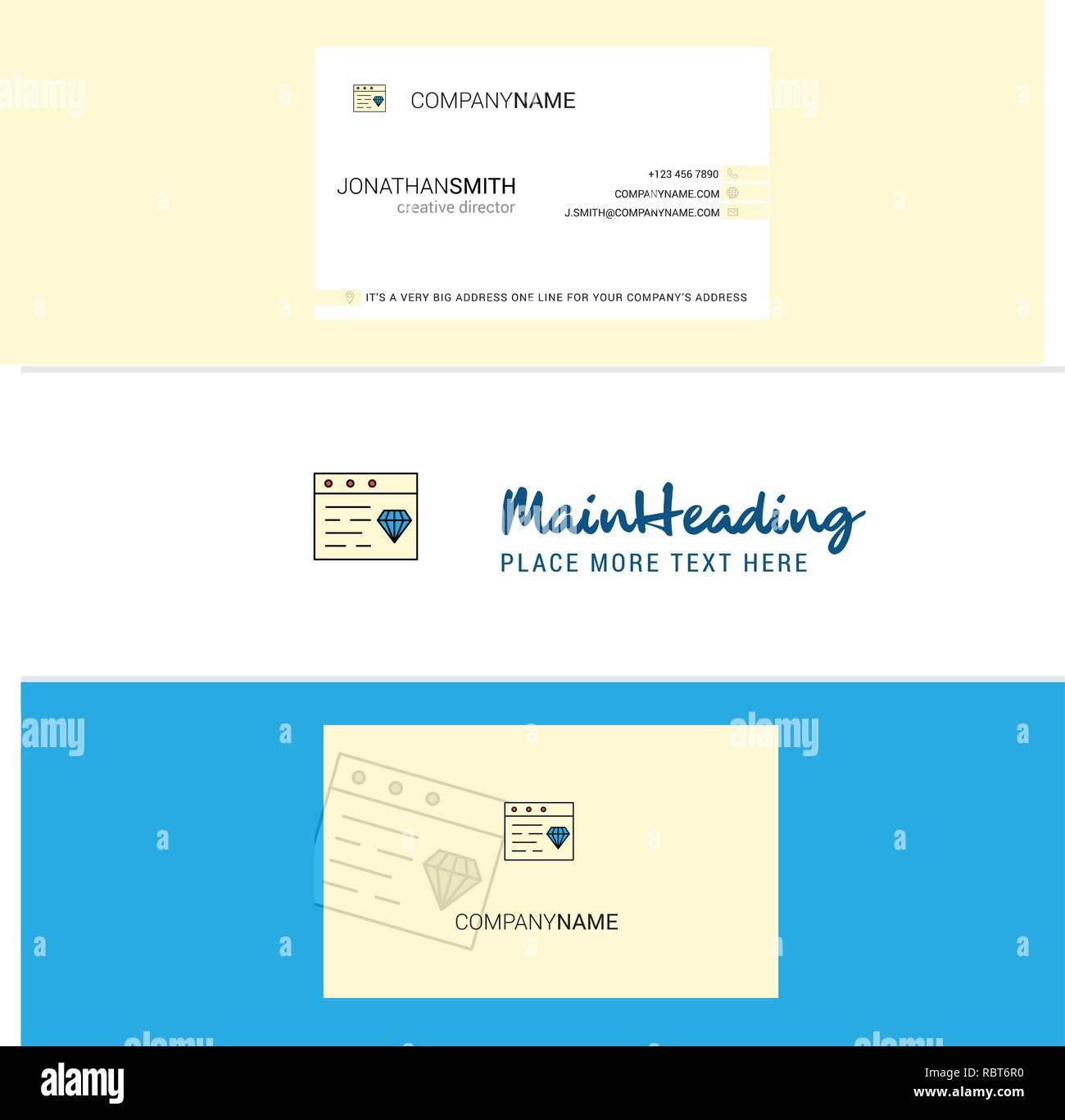 Beaux Bijoux Sur Le Site Web Logo Et Carte De Visite Vecteur Conception Verticale
