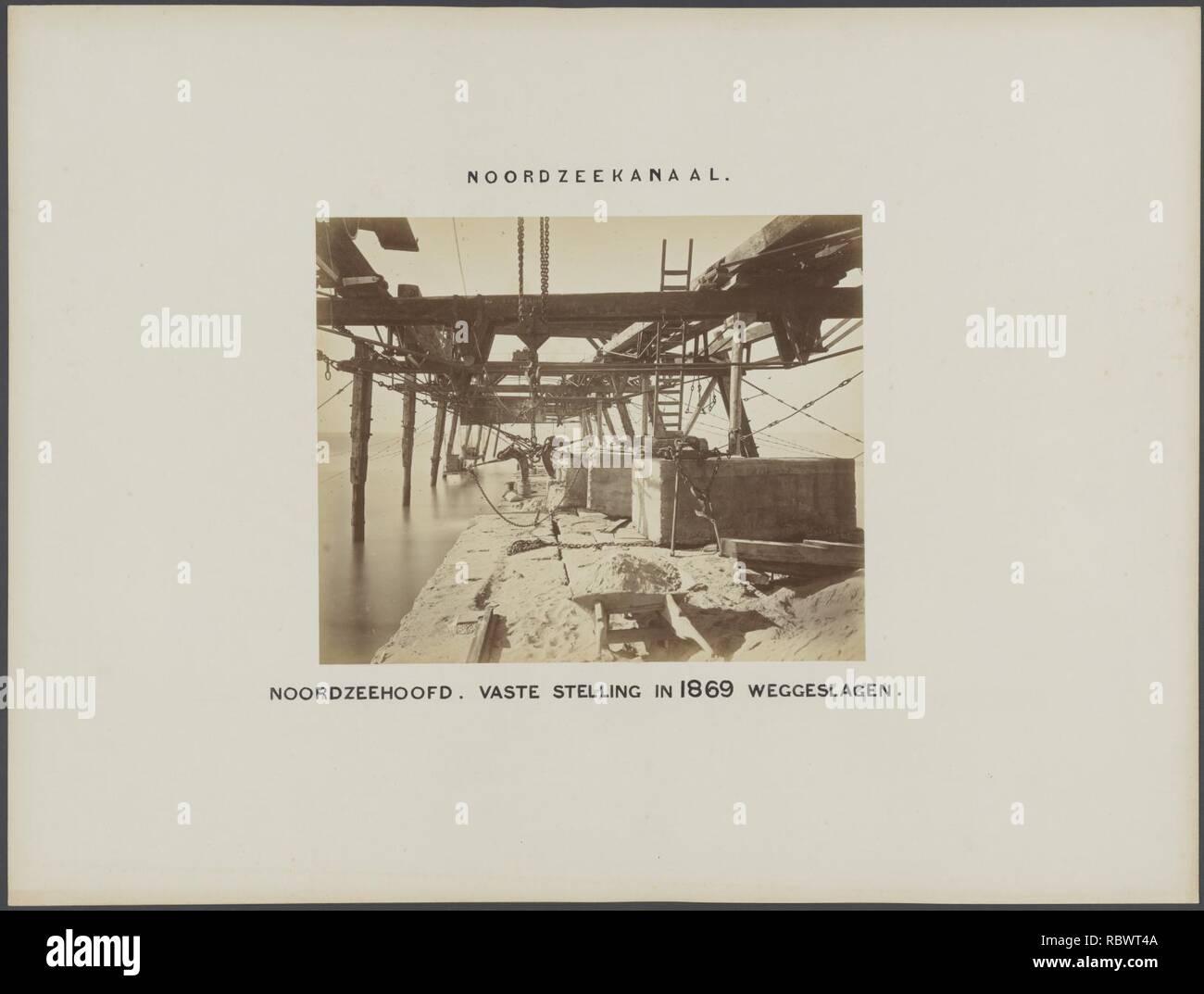 Het Aanleg van noordzeehoofd vaste, stelling, dans weggeslagen Bestanddeelnr 1869, 568. Photo Stock