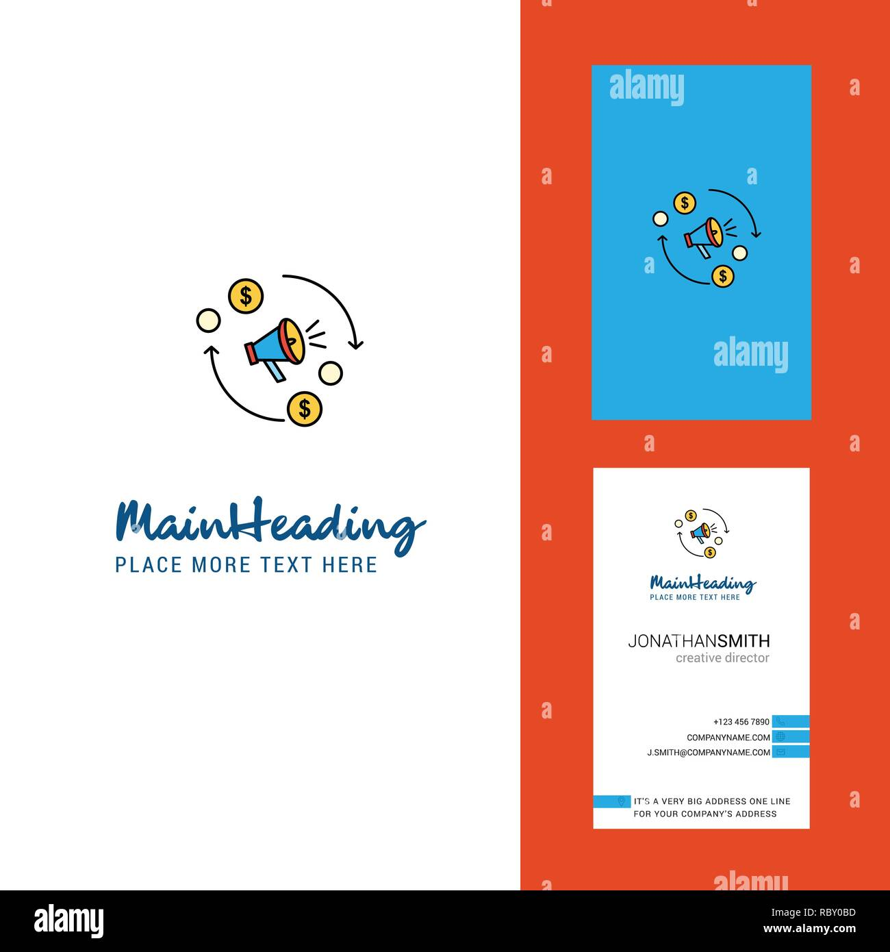 Le President Creative Logo Et Carte De Visite Vecteur Conception Verticale