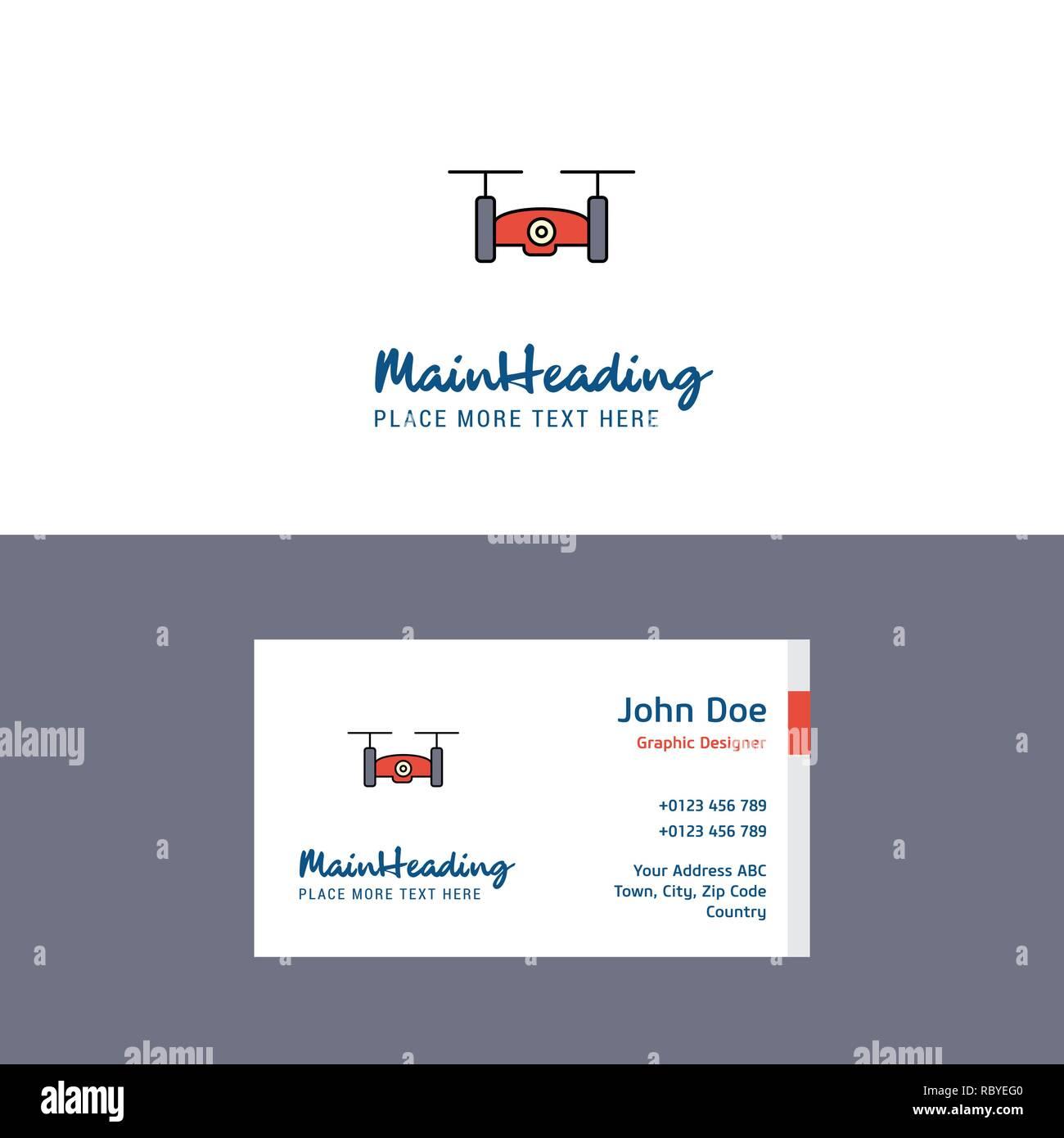 Television Camera Drone Logo Et Carte De Visite Du Modele Design Concept Busienss Photo