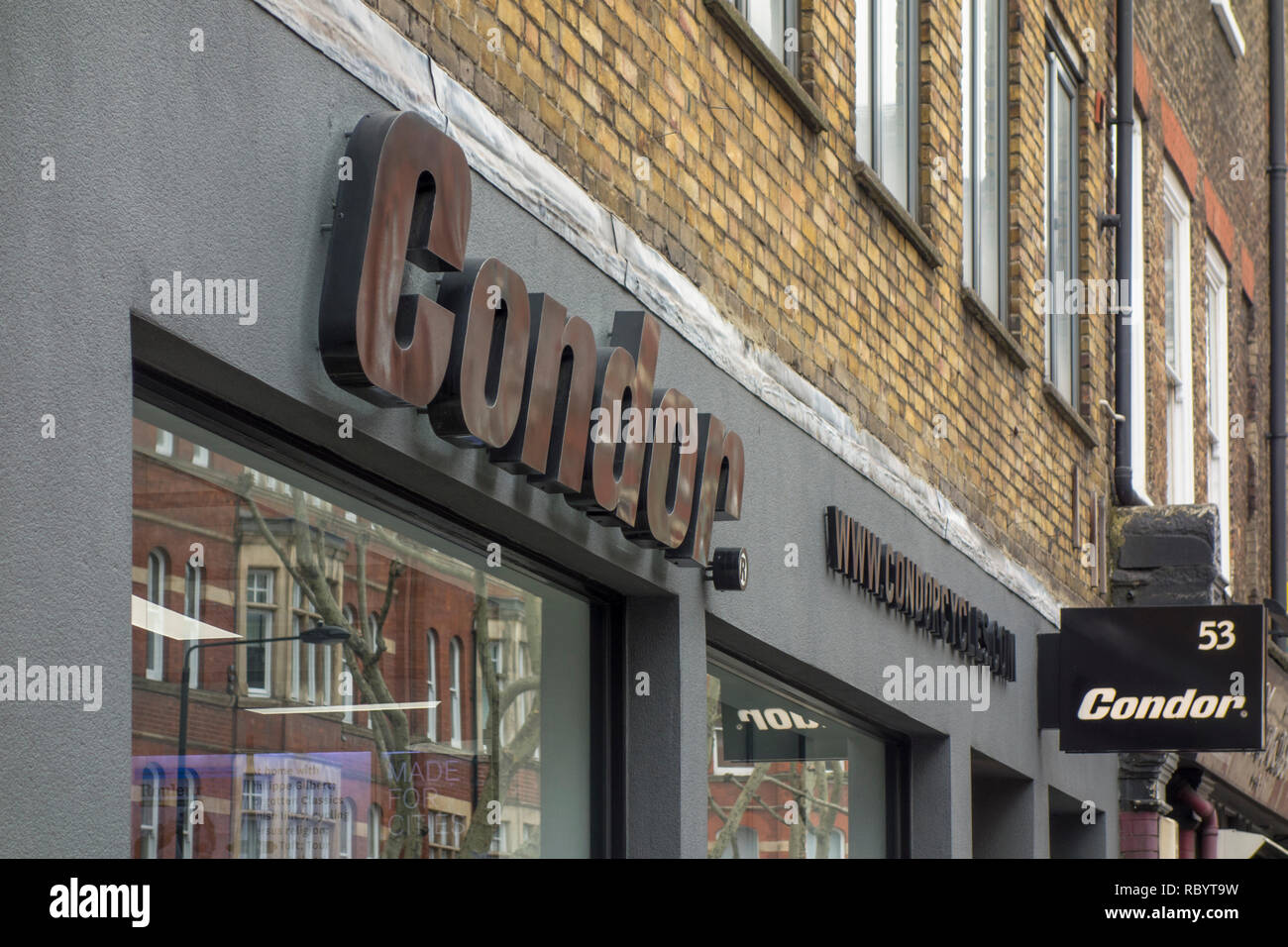 Magasin de vélos Condor à Londres, Royaume-Uni Photo Stock