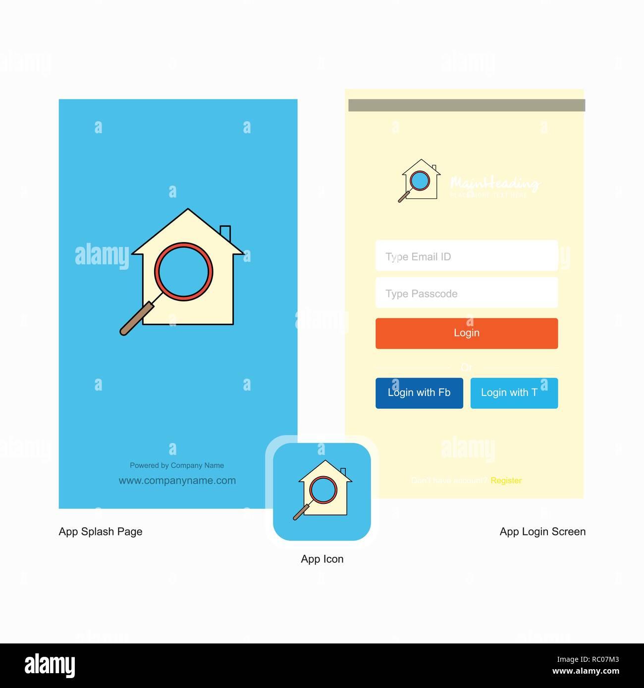 Login Page Recherche De Chambre Et L Ecran Login Page Design Avec Logo