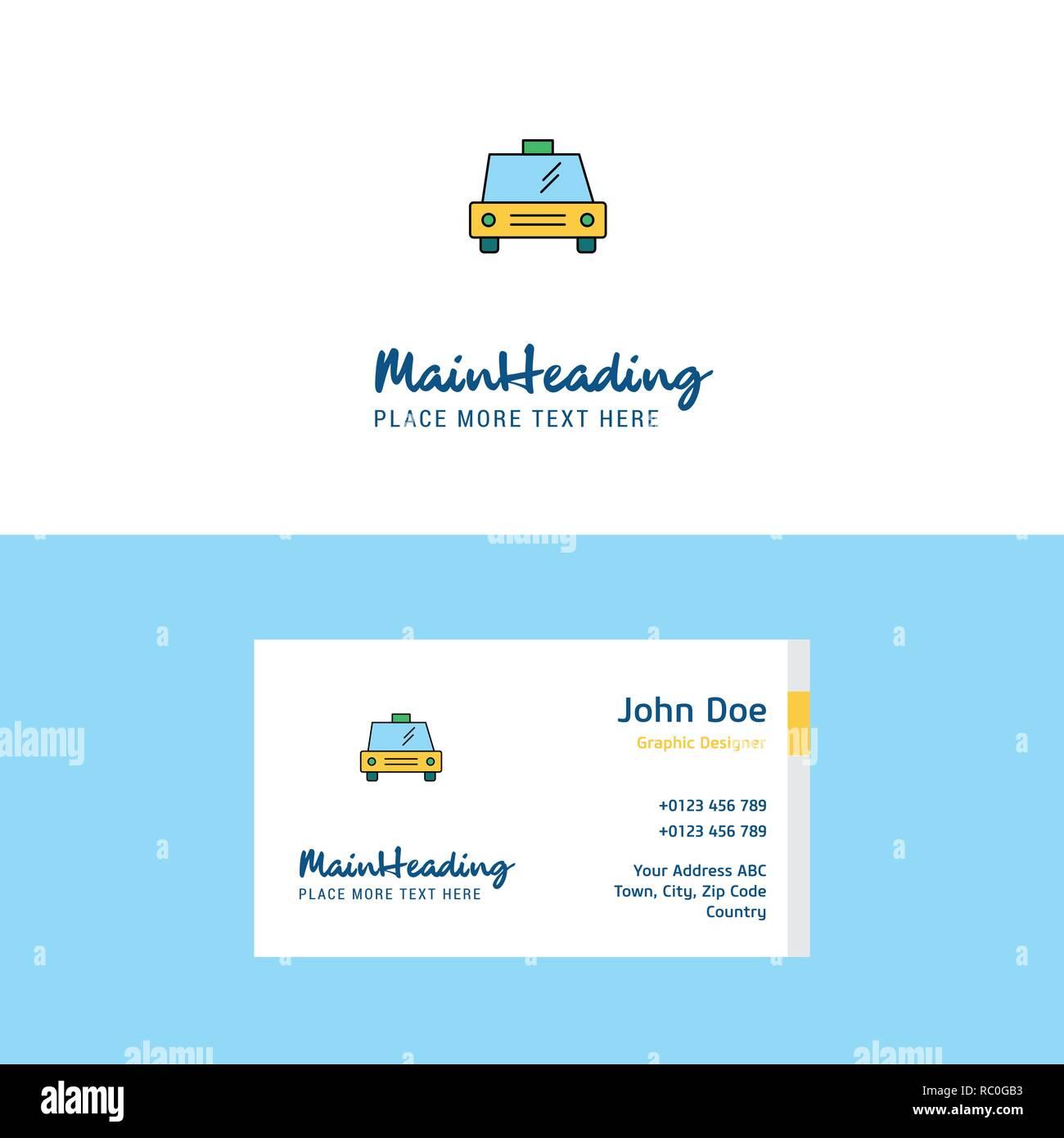 Taxi Television Carte De Visite Logo Et Modele Design Concept Busienss