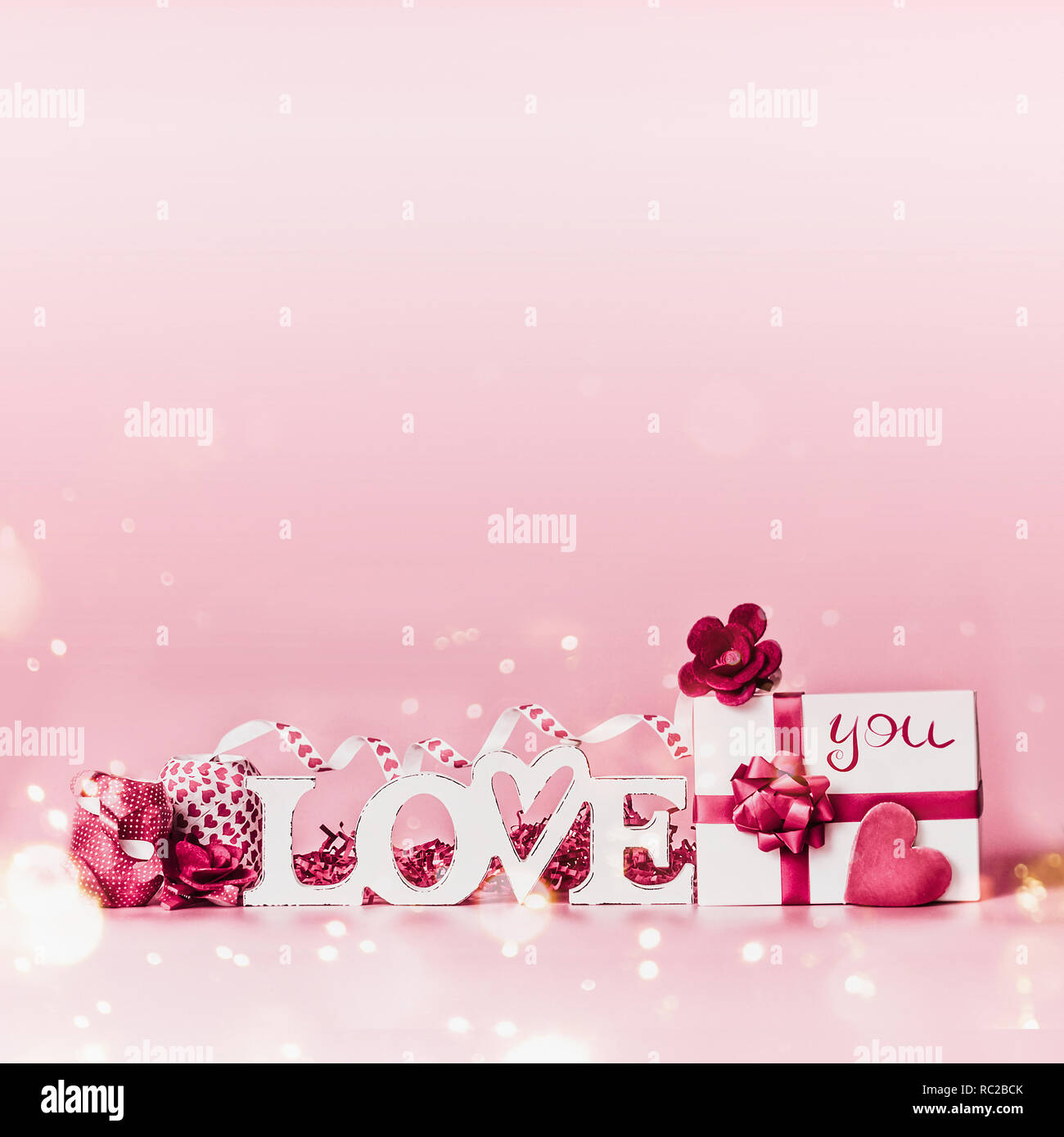 Valentines Day Background Composition Romantique Avec Amour