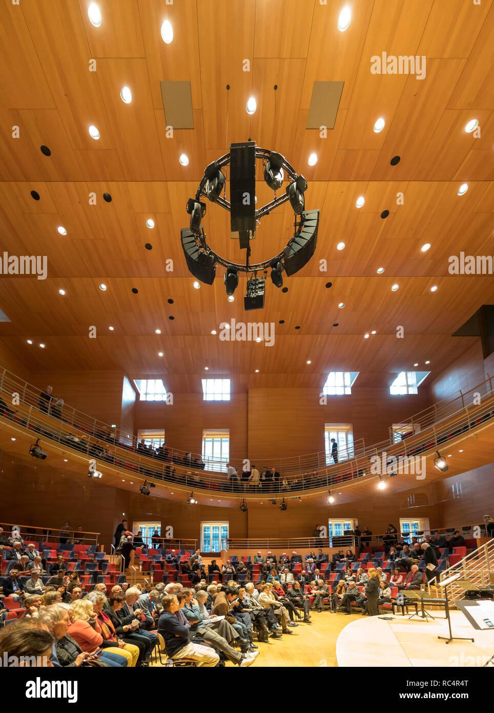 Pierre Boulez Saal dans l Barenboim a dit l'Académie Berlin. Conçu par Gehry. Photo Stock
