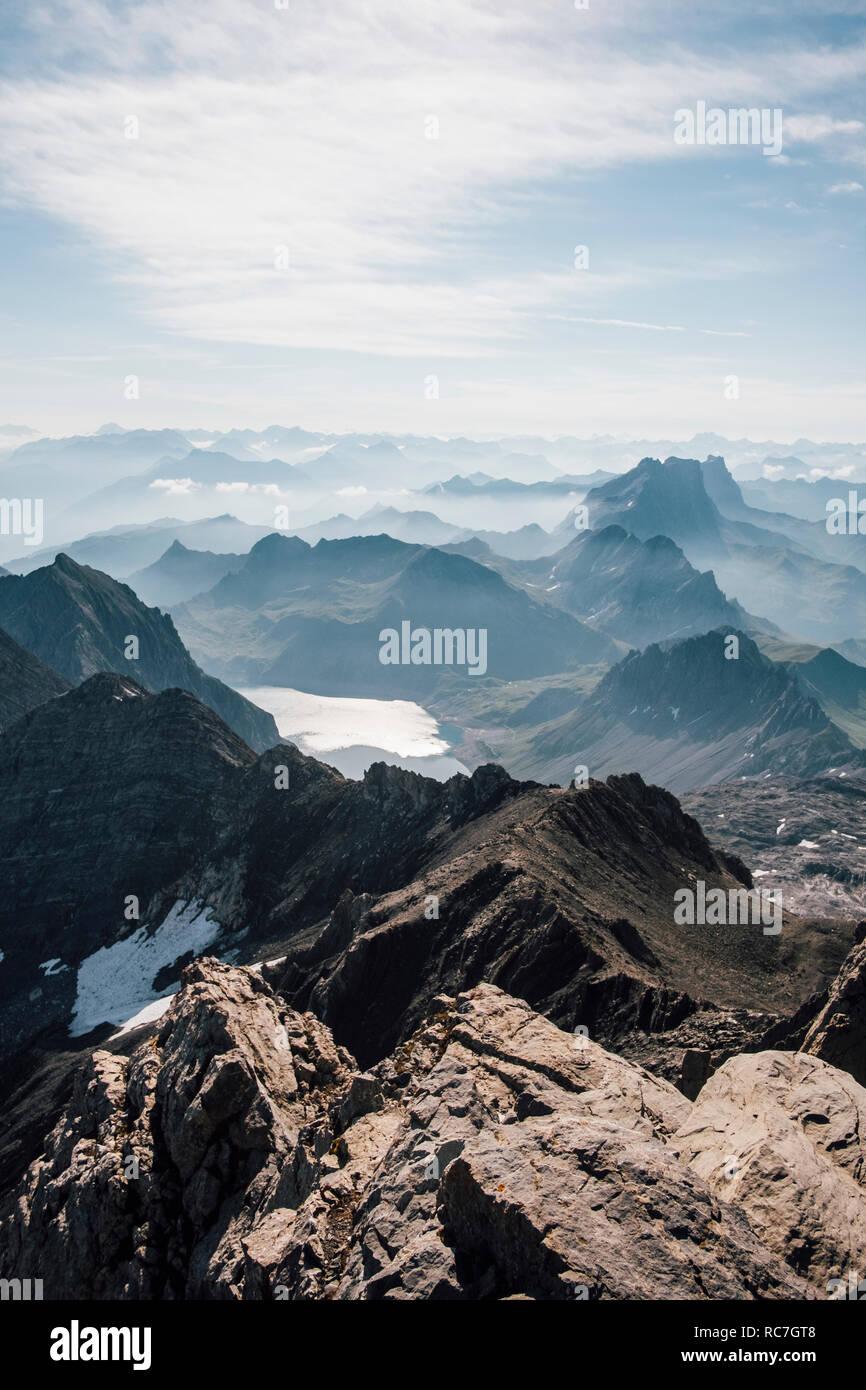 Mountainscape, marque, Vorarlberg, Autriche Banque D'Images