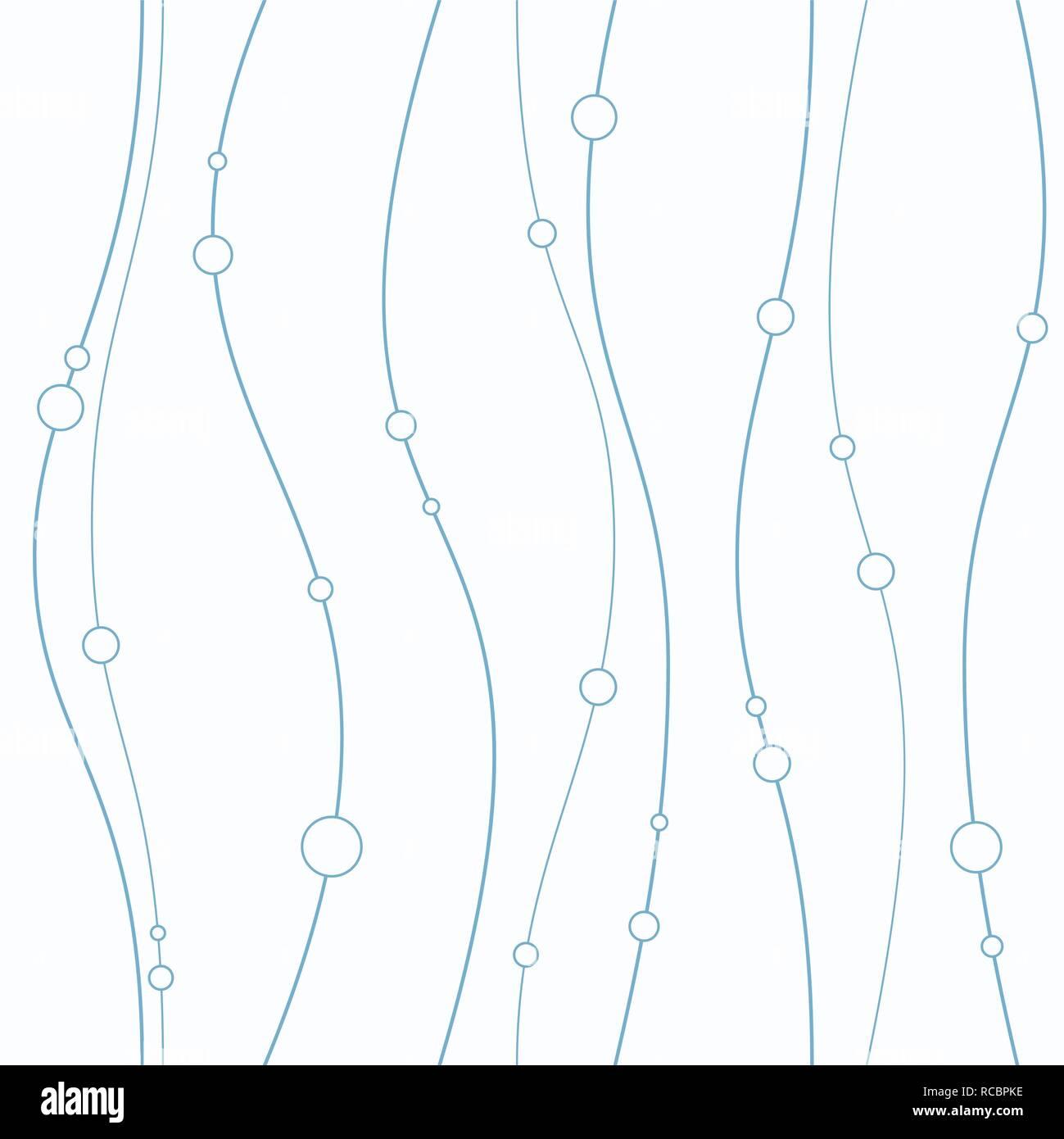 Modèle transparent avec des lignes douces et des cercles. La texture élégante. La direction verticale. Vector background. Photo Stock
