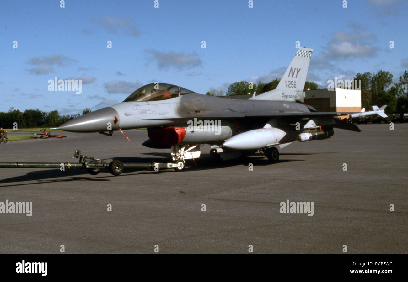 USAF United States Air Force General Dynamics F-16C Fighting Falcon Banque D'Images
