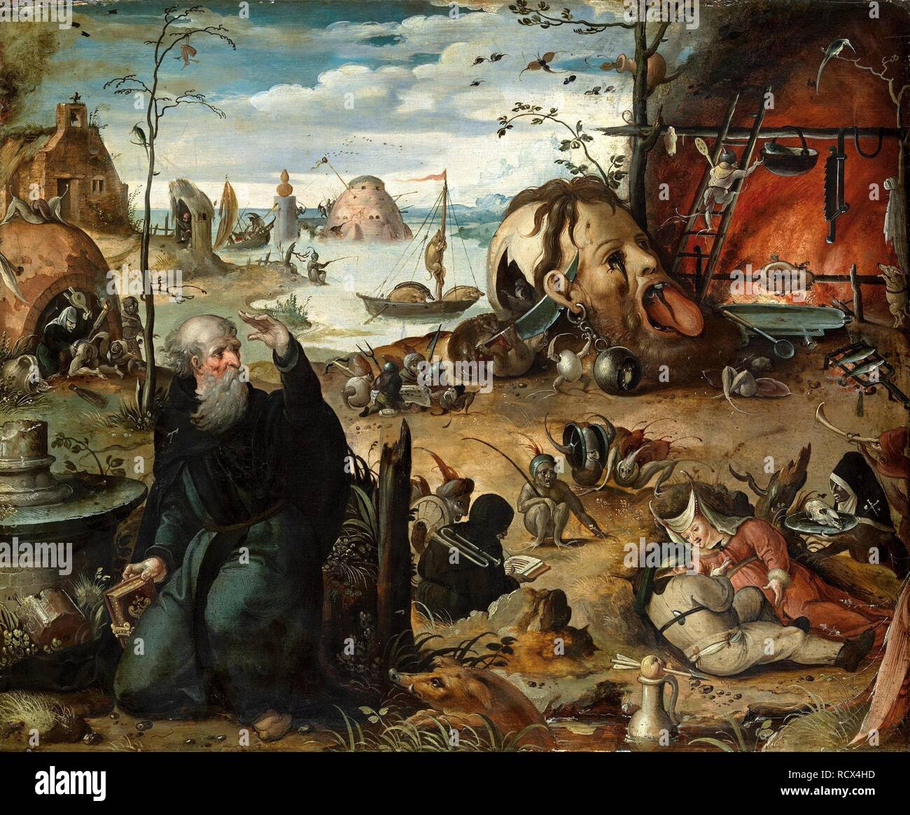 La Tentation de Saint Antoine. Musée: Musée du Liechtenstein. Auteur: MANDYN, JAN. Photo Stock