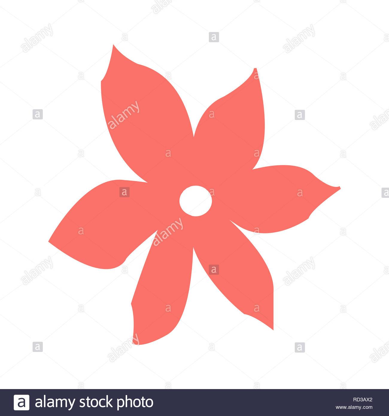 Fleur de corail vivant sur un fond blanc (illustration) Photo Stock
