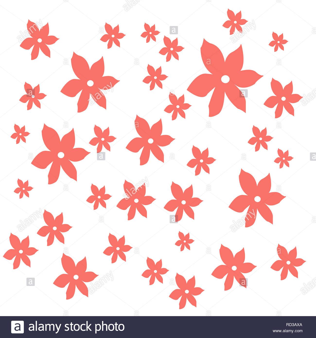 Fleurs corail vivant sur un fond blanc (illustration) Photo Stock