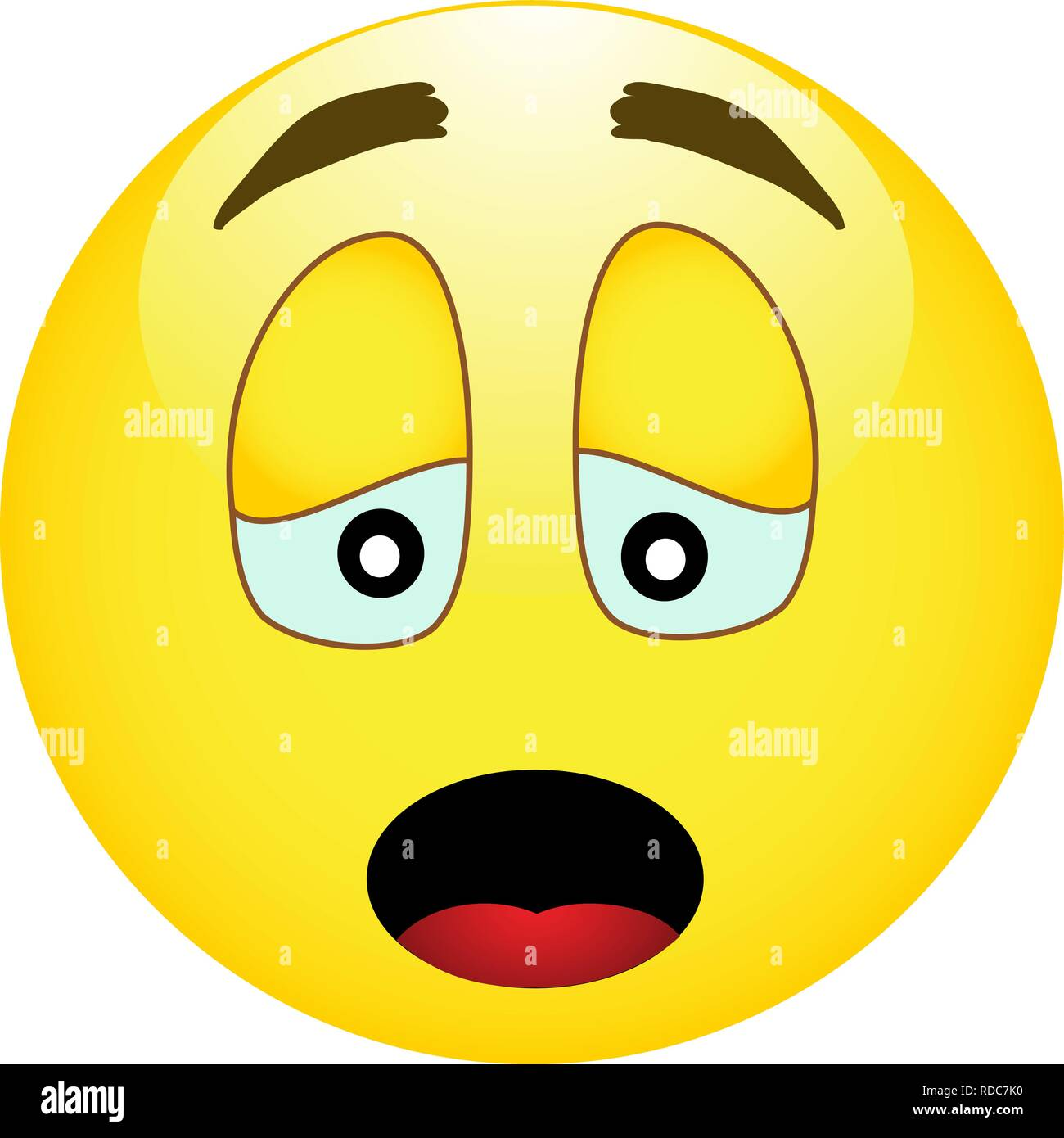 Triste Emoticone Smiley Jaune Image Vectorielle Stock Alamy
