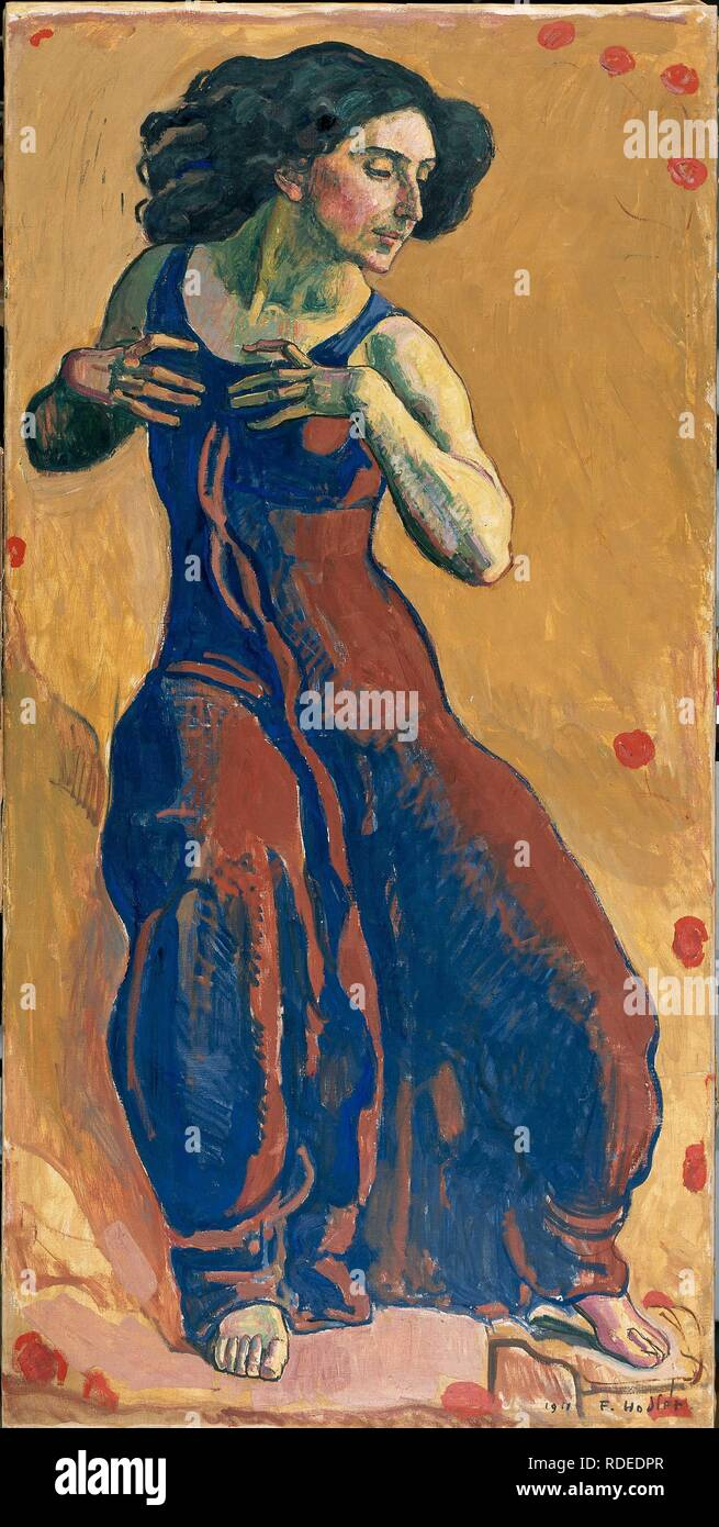 Femme en extase (femme en extase). Musée: Musée d'art et d'histoire, Genève. Auteur: HODLER, Ferdinand. Banque D'Images