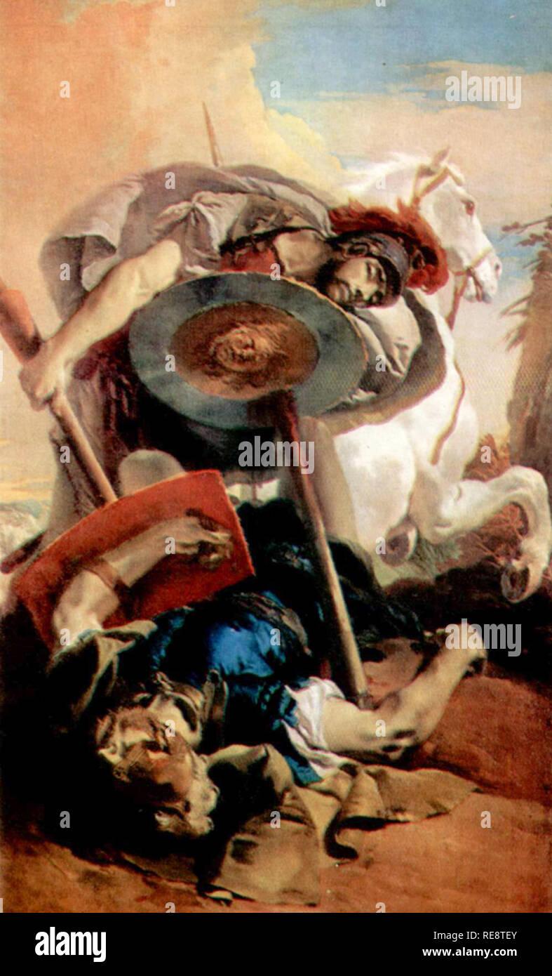 Adiona thong et Polynice, mythologie grecque Photo Stock