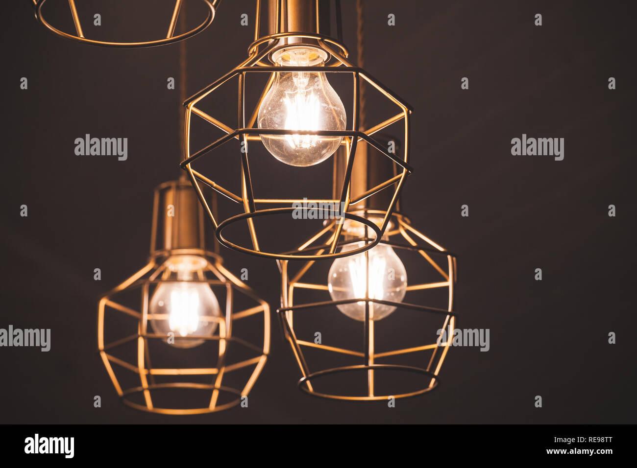 Ampoule Lampes JauneÉléments D Led Lustre Avec Suspension 54jARL