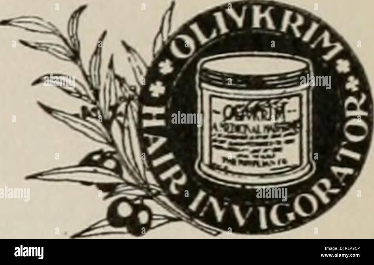 """. La conservation. Les forêts et la foresterie. Les importateurs de plus haute classe ReSned l'huile d'olive, de Pompéi et de constructeurs de produits d'huile d'olive. Prietors OLIVKRIM pro- d'un cheveux l'huile d'olive pure invigorator. À ne pas confondre avec toniques, quin- iaeor """"autres traitements."""" Il contient tous les santé, nourrissante immeubles d'huile d'olive pure-sèche de nourriture, pas d'une combinaison d'alcool et d'druft. Nos huiles d'Olive Extra Pompéiennes n° I de l'huile de Lucques est le produit le plus performant de l'italien d'Oliviers. Analysé et approuvé par le professeur H, E. Kalusowski, Doyen de la Faculté de pharmacie de George Washington, Washington Banque D'Images"""