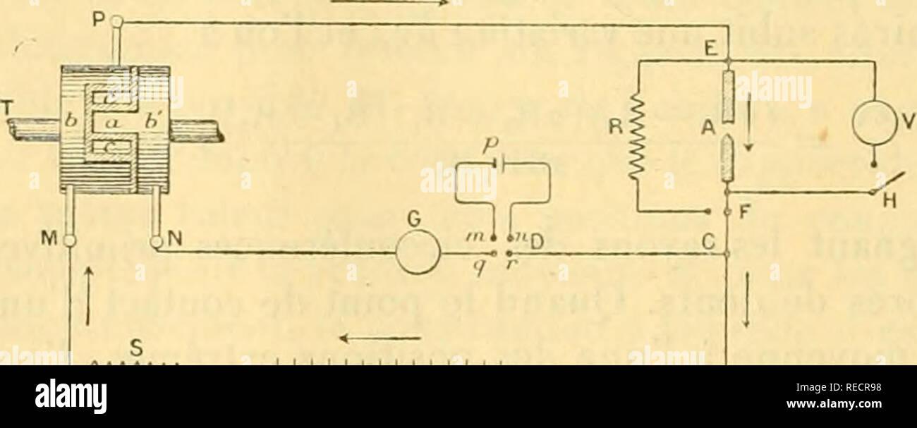 """. Comptesrendusheb1251171897acad. es naturelles. ( IG-i ) valeur moyenne, une oscillation australe qui n'atteint pas^ y de cette valeur. )) Le principal inconvénient du systà ¨ me consiste dans l'impossibilité de même faire engrener une roue avec des roues de différentes diamîtres. Â"""" ÃLECTRICITÃ. Sur le phénomîne de l'arc électrique. Remarque de M. A. Blondel, présentée par M. Potier. Â"""" Dans un précédent travail (') j'ai fait connaître diverses raisons qui ne the pas d'admettre, dans l'arc électrique, l'existence d'une force électromotrice de nature comparable aux forces canadiennes éleclromotr Banque D'Images"""