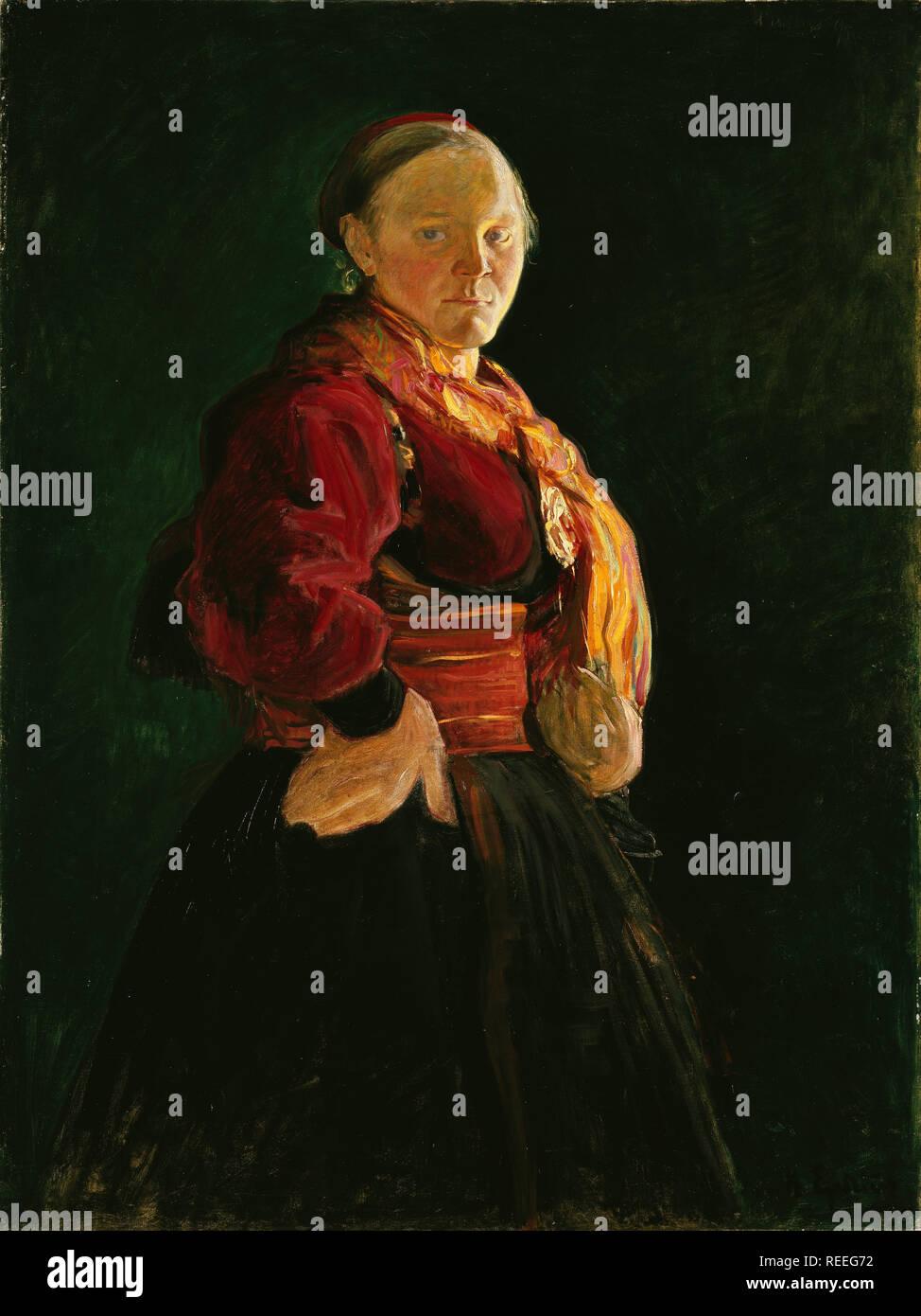 Portrait de Mari Halfdan Egedius par Clasen Banque D'Images