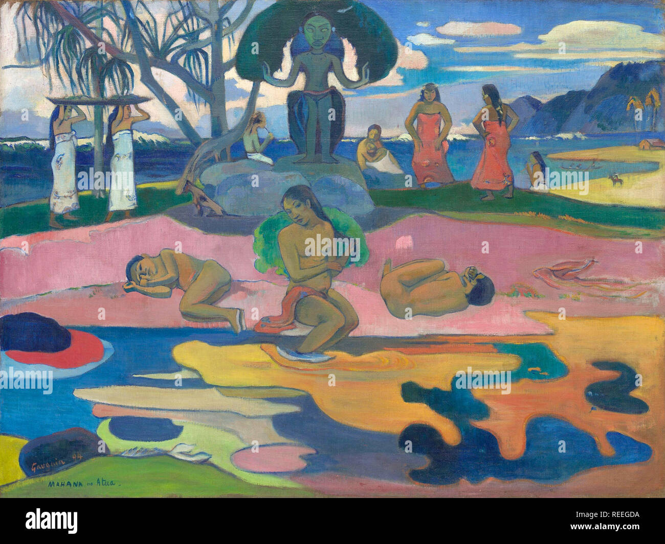Le jour de Dieu de Paul Gauguin Photo Stock