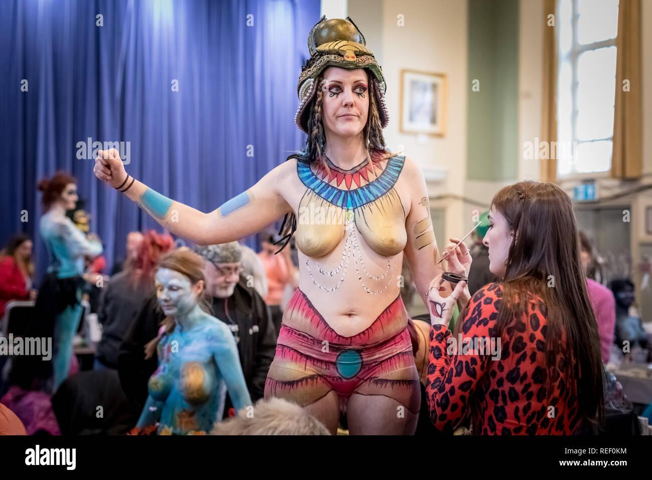 Glastonbury, Somerset, Royaume-Uni. 12Th jan 2019. Glastonbury Festival d'art de corps. Crédit: Guy Josse/Alamy Live News Photo Stock