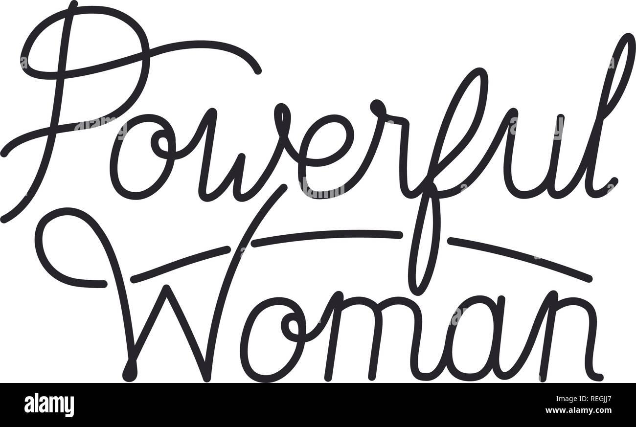 Femme forte icône isolé de l'étiquette Illustration de Vecteur