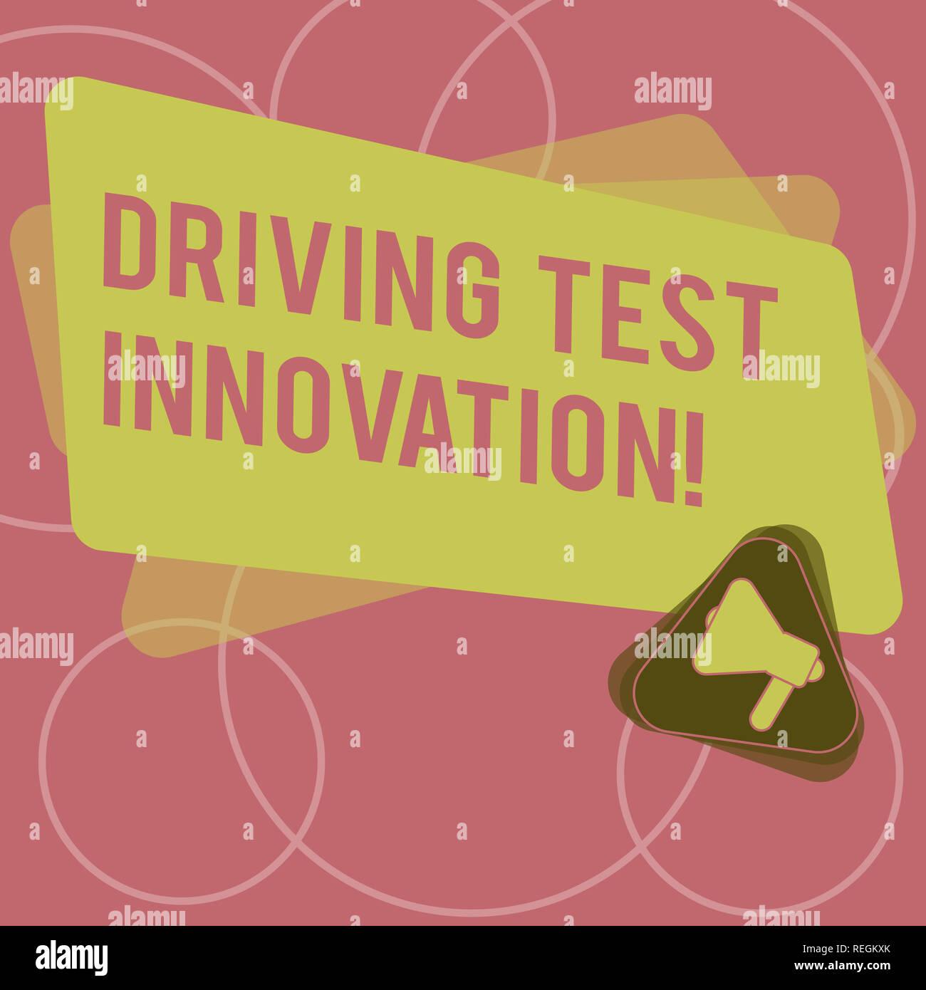 Test De Conduite >> L Ecriture De Texte Word Test De Conduite De L Innovation Concept D