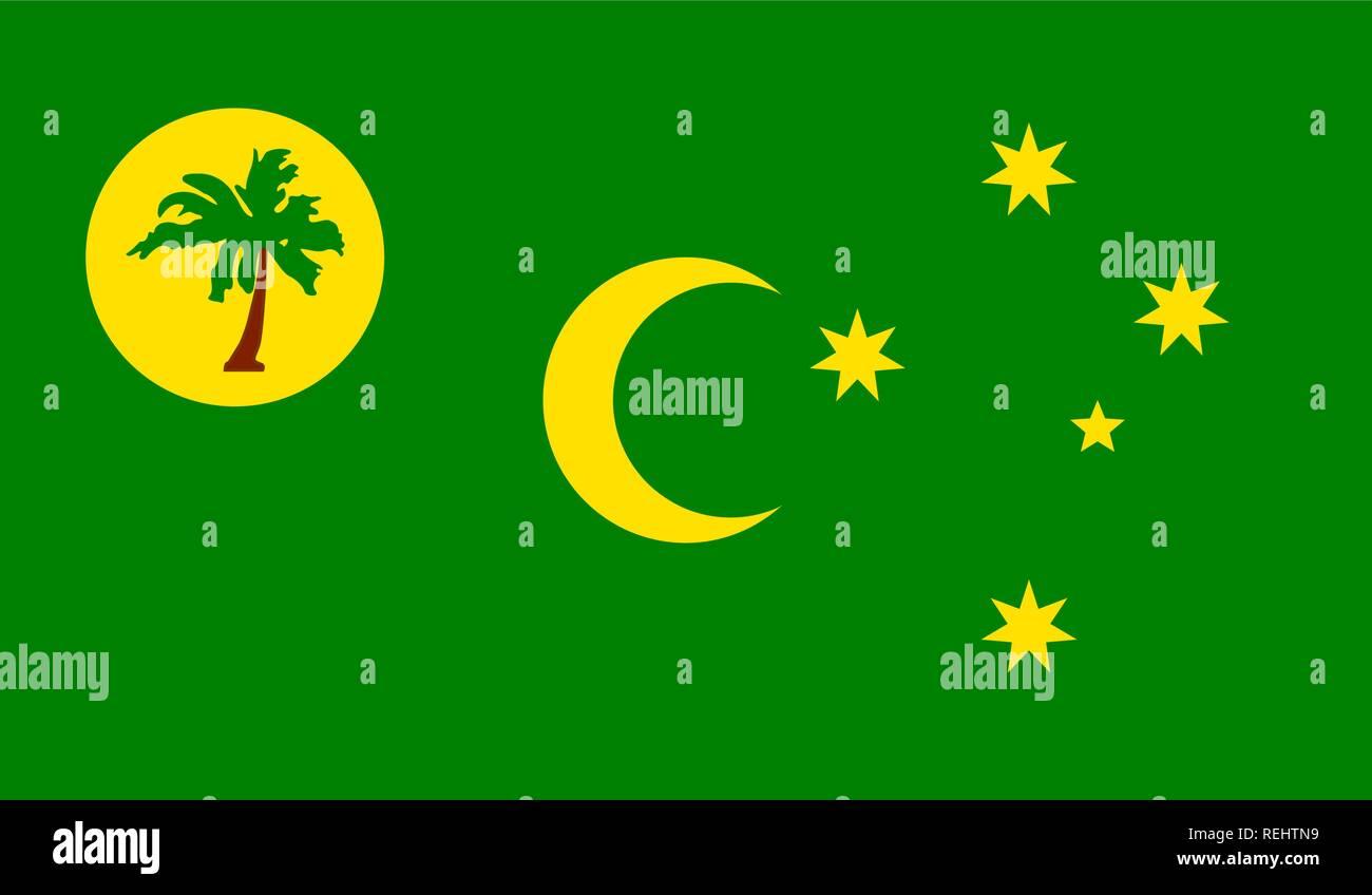 Les îles Cocos (Keeling) Islands Flag Photo Stock