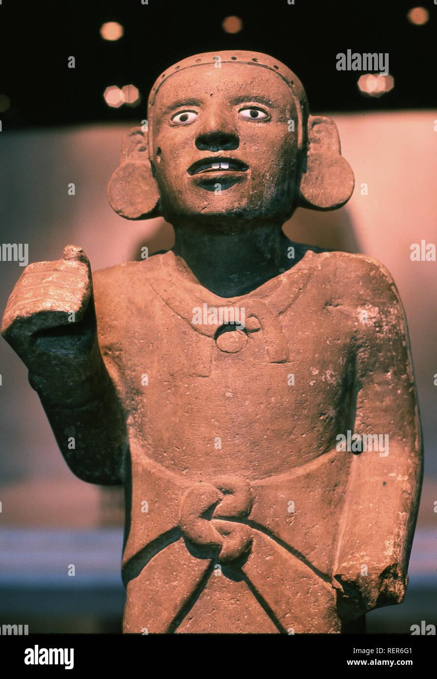 Statue des ruines de Teotihuacan mexique Banque D'Images