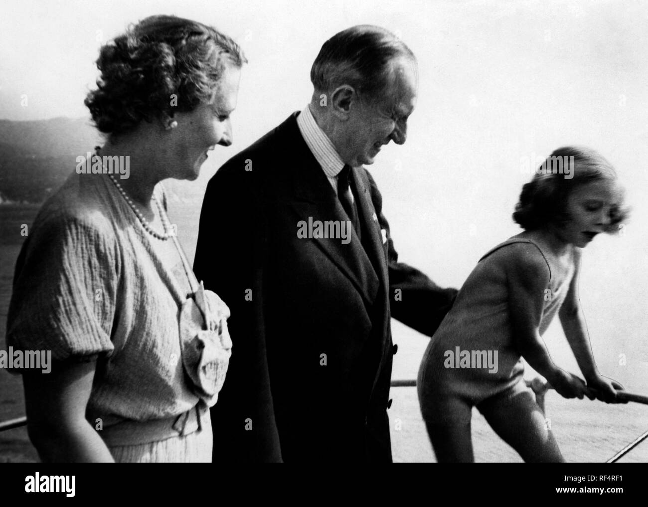 La famille Marconi, 1936 Banque D'Images