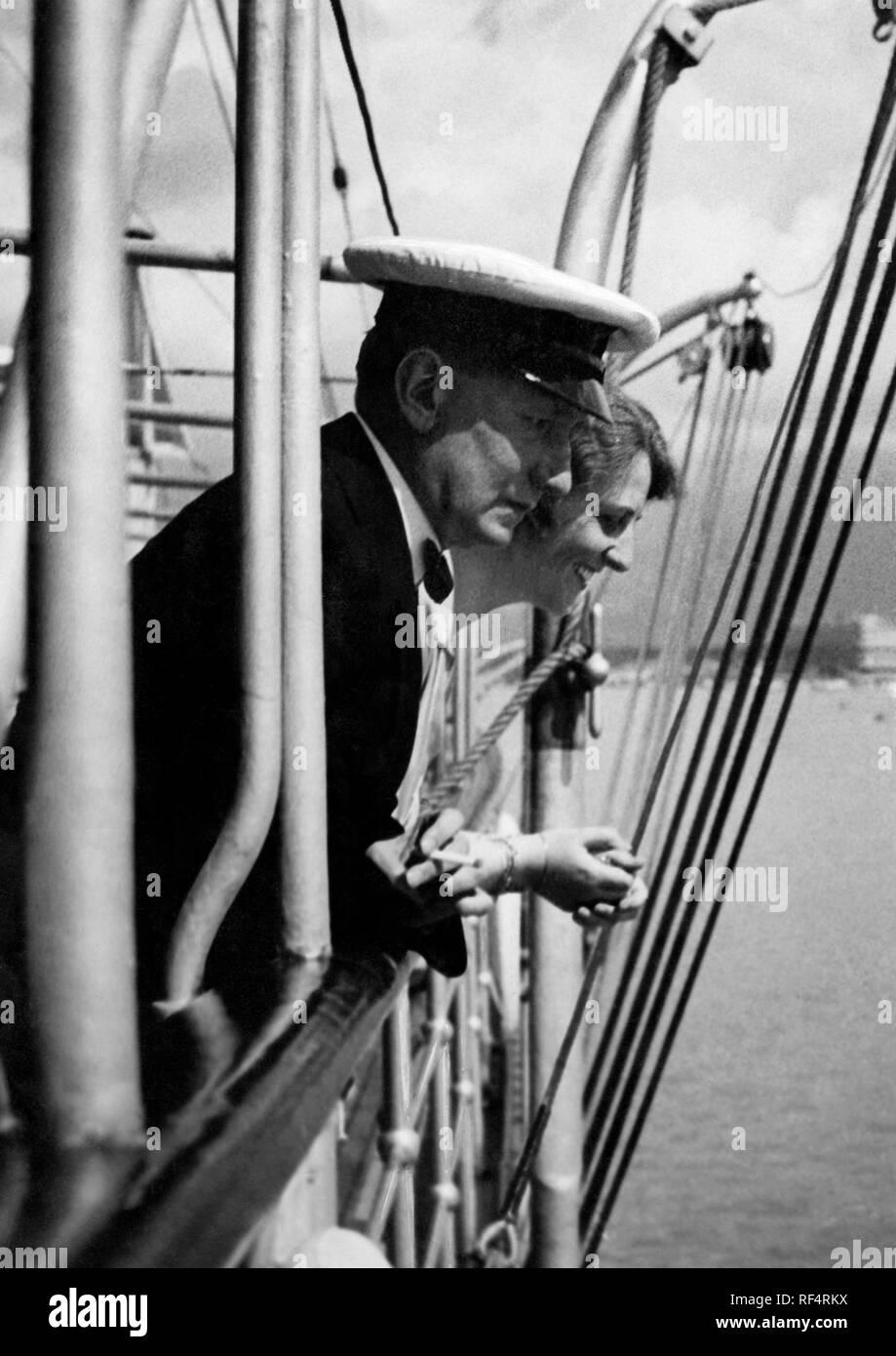 Guglielmo Marconi et Maria Cristina bezzi-scali, 1936 Banque D'Images