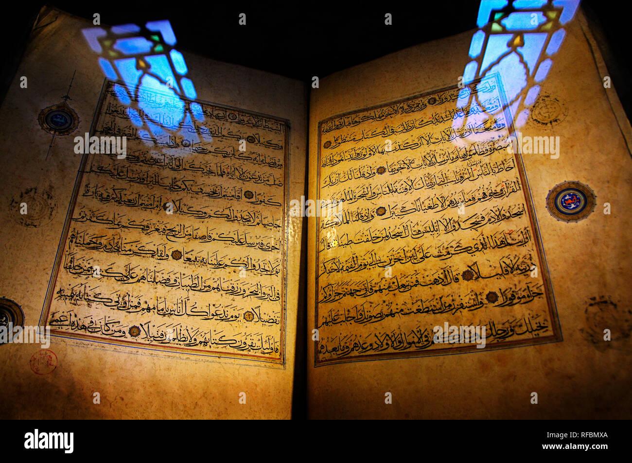 Vieux Saint Coran à Edirne. La Turquie Banque D'Images