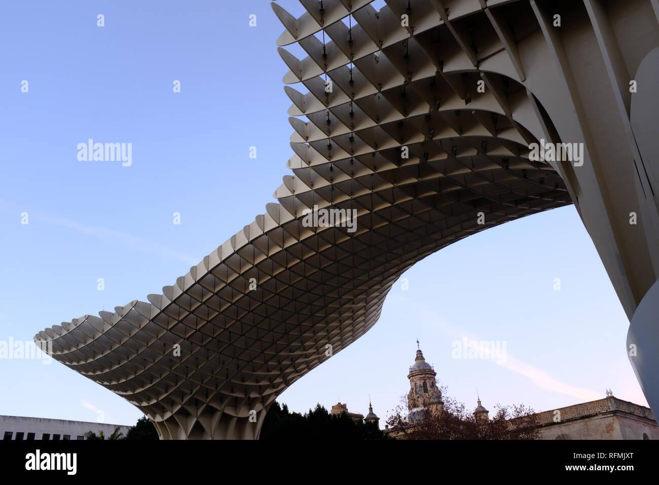 Metropol Parasol Mushroom Canopy Las Setas de la Encarnación Seville Espagne Banque D'Images