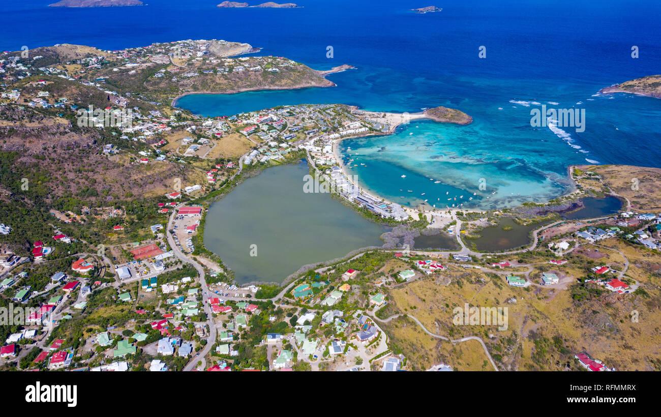 Grand Cul de Sac, Saint Barthélemy ou St Barths ou St Barth, mer des Caraïbes Banque D'Images