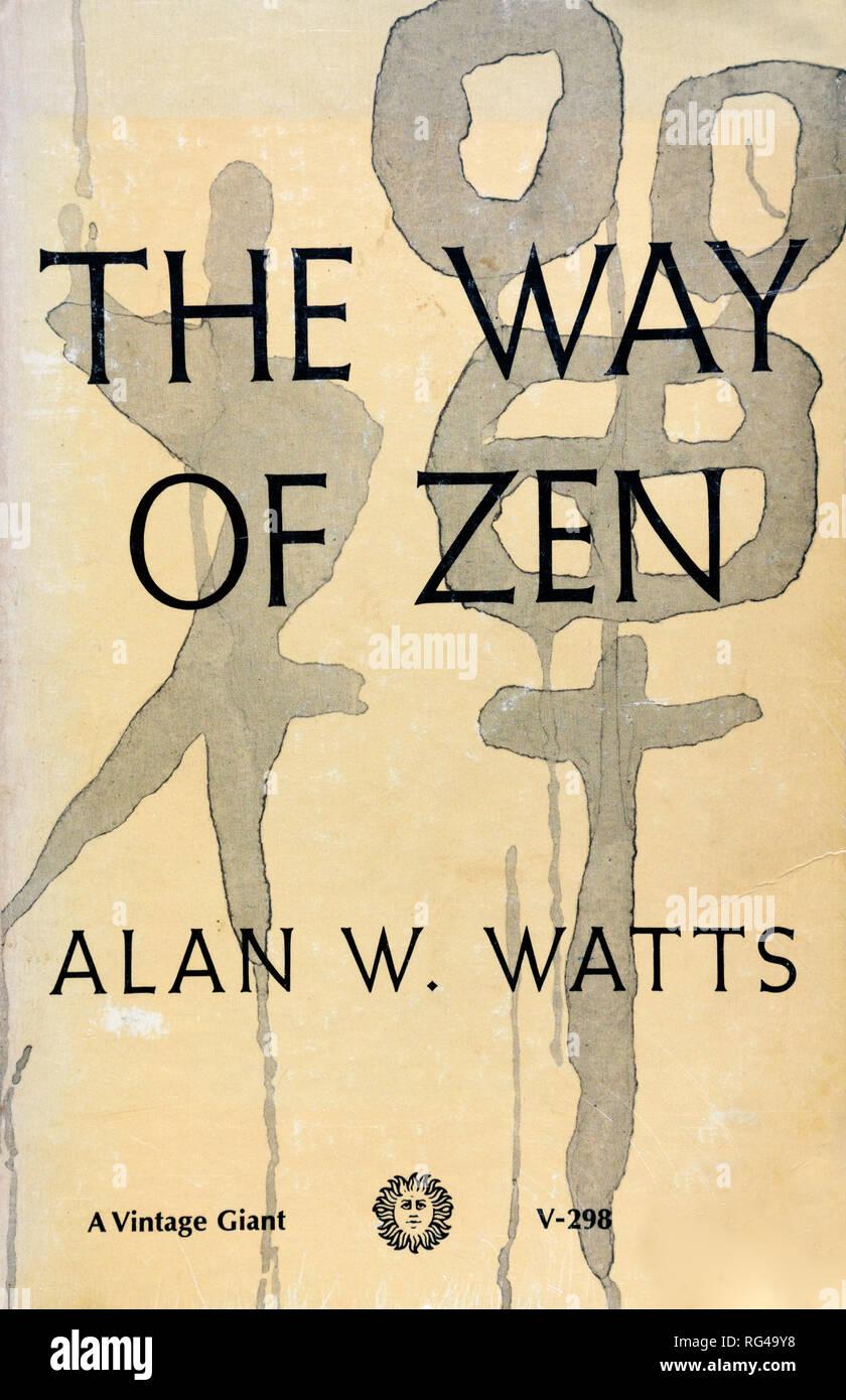 Alan W Watts La Voie Du Zen Couverture De Livre Vintage