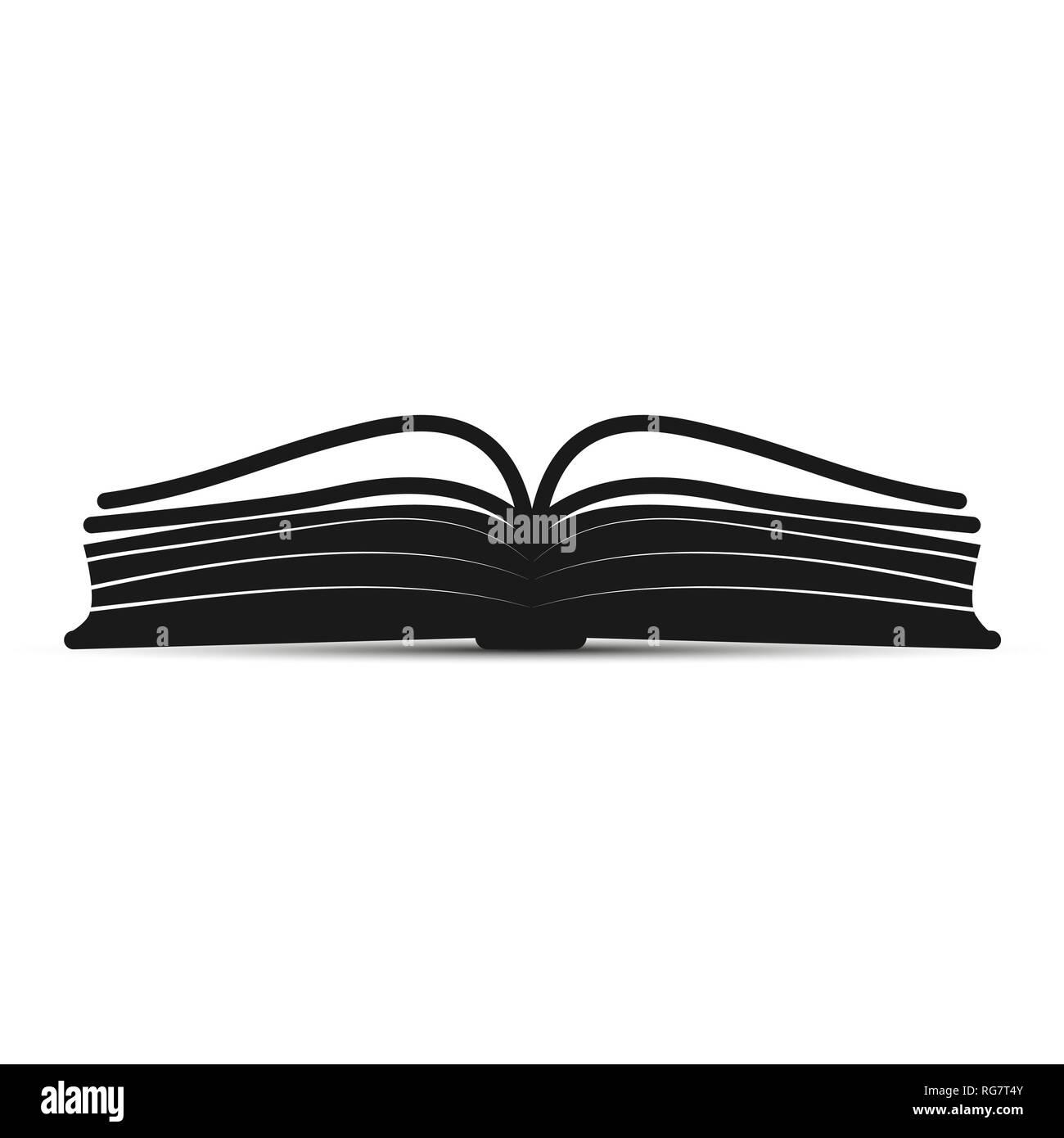 Silhouette Simple Icone Livre Ouvert Pour Le Web Design