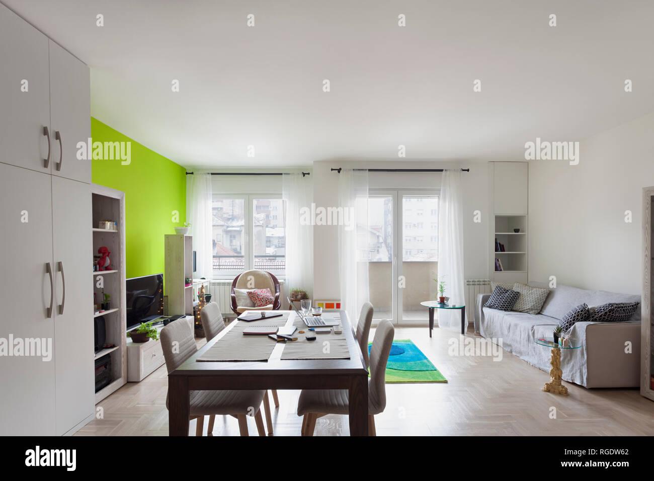 Vue du coin cuisine pour ouvrir un salon en appartement ...