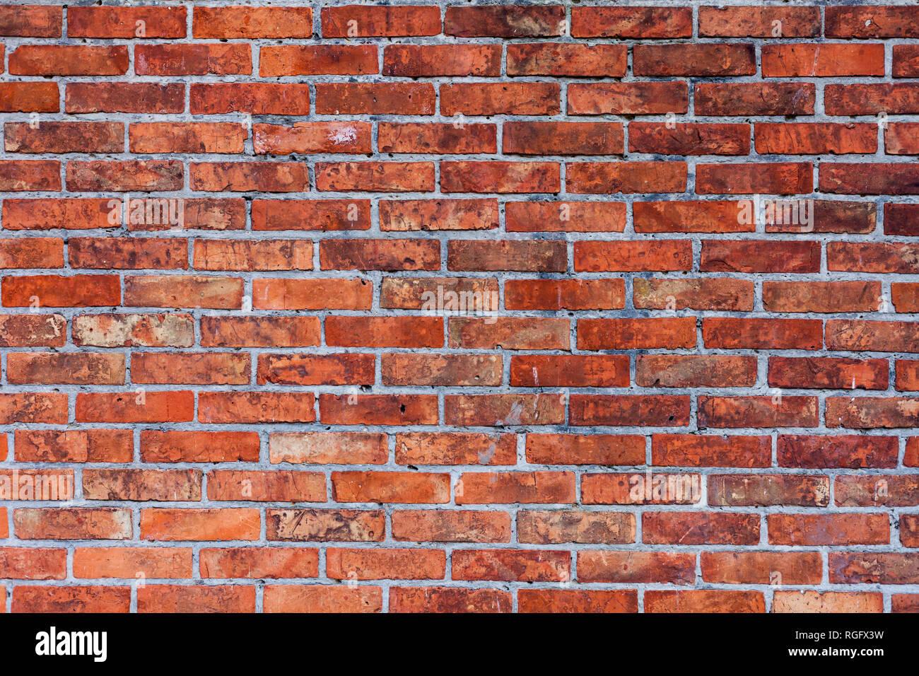 Mur En Brique Rouge la texture du mur de brique rouge de l'arrière-plan. briqué