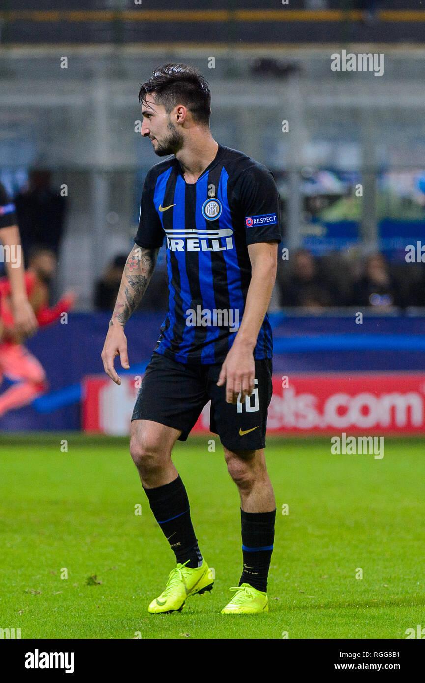 Milan - Nov 6, 2018: Matteo Politano 16. Internazionale FC - FC Barcelone. L'UEFA Champions League. Journée 4. Giuseppe Meazza (San Siro) stade. Banque D'Images