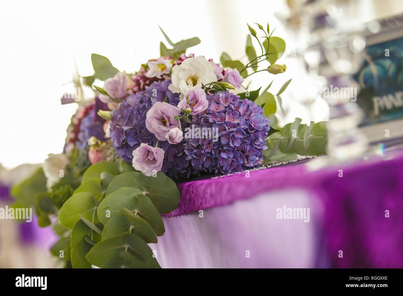 Feuille D Eucalyptus Bouquet bouquet floral ensemble de jardin de poudre blanche, rose